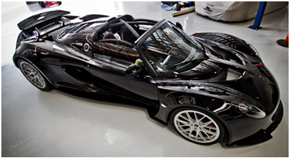 Hennessey Venom GT Spyder ($1,100,000)  Texas Based Hennessey Performance  Engineering Manufactured Hennessey Venom GT Is A Supercar Assembled In  England ...