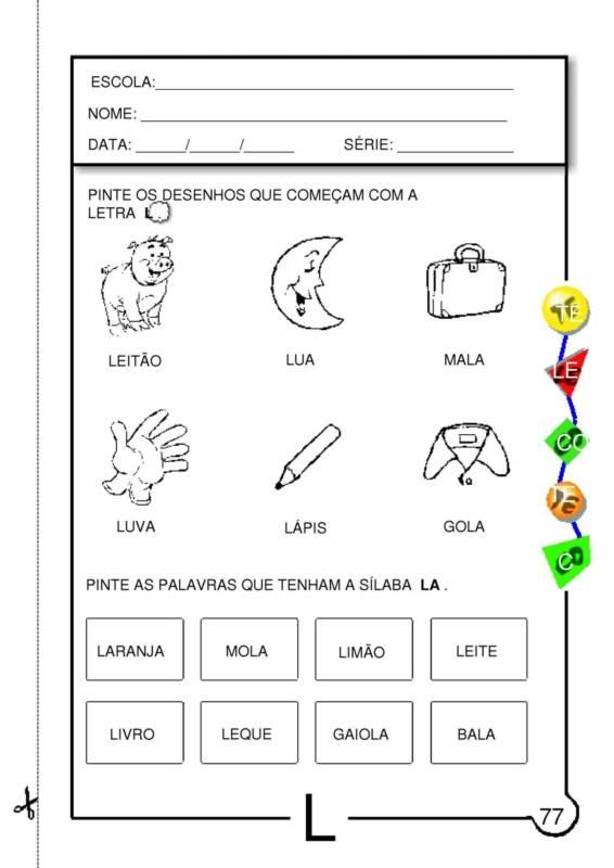 Desenhos de letras com carinhas para pintar Guia Infantil