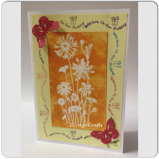 Embossed Stamped Handmade card