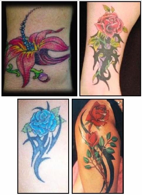 Fleur tatouage ides de modle de tatouage motifs diffrents - Signification motif tatouage ...