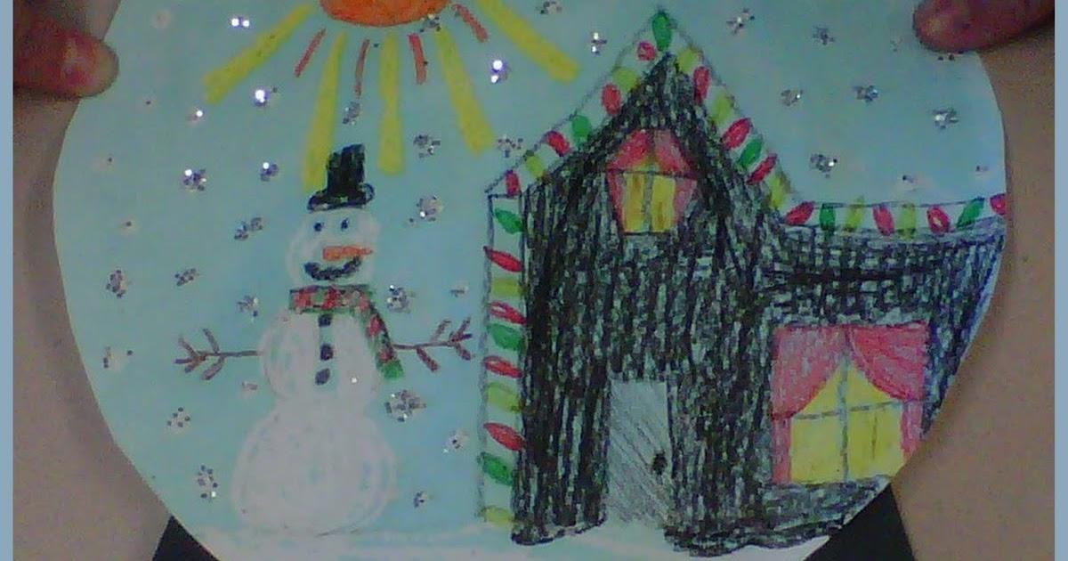 what the teacher wants snow globe art project