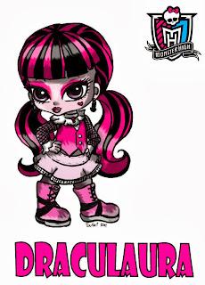 Monster High, Imagenes de Draculaura para Imprimir, parte 1