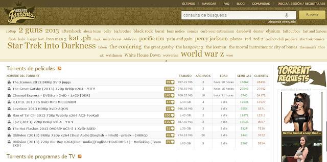paginas para descargar torrent