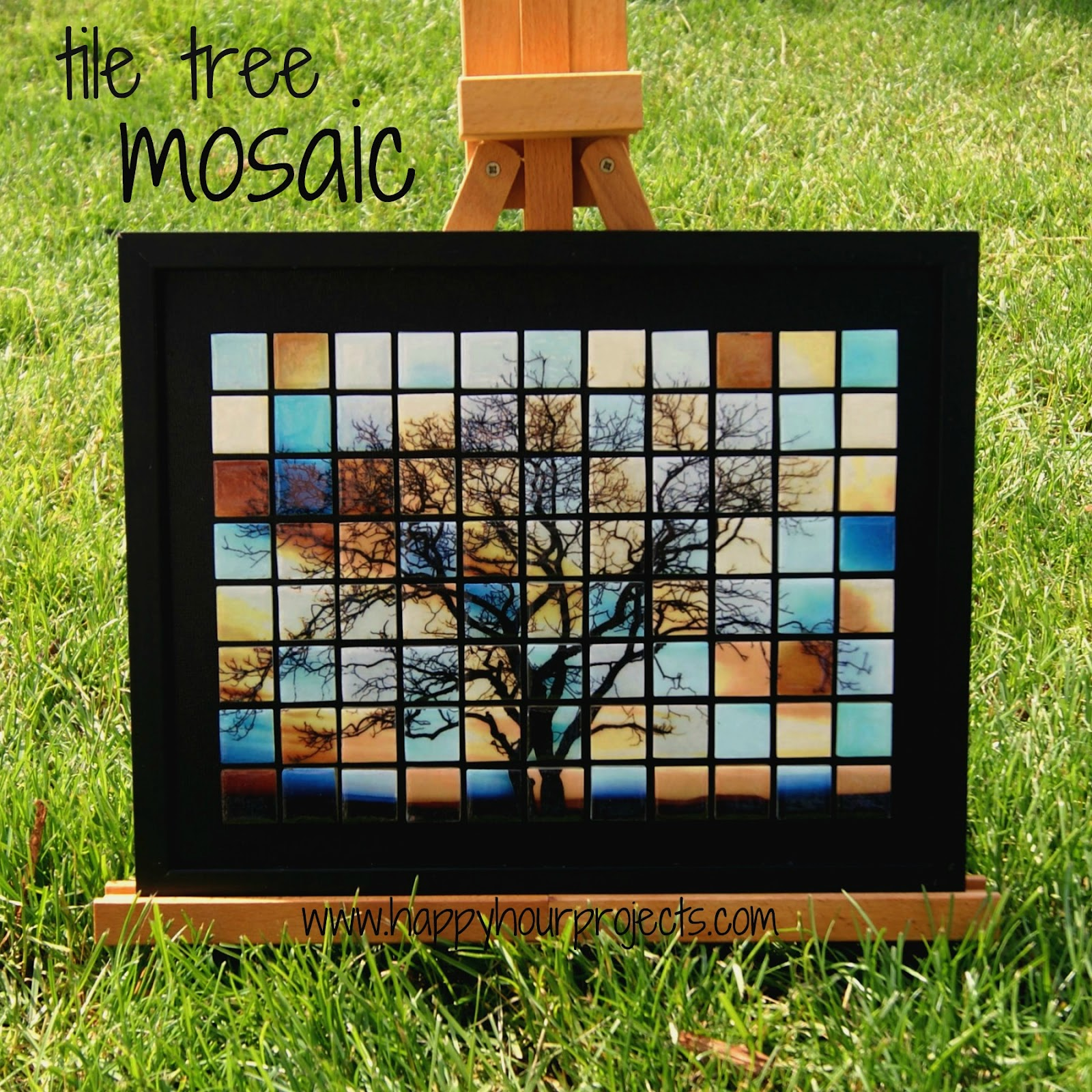 glass tile tree mosaic - happy hour projects