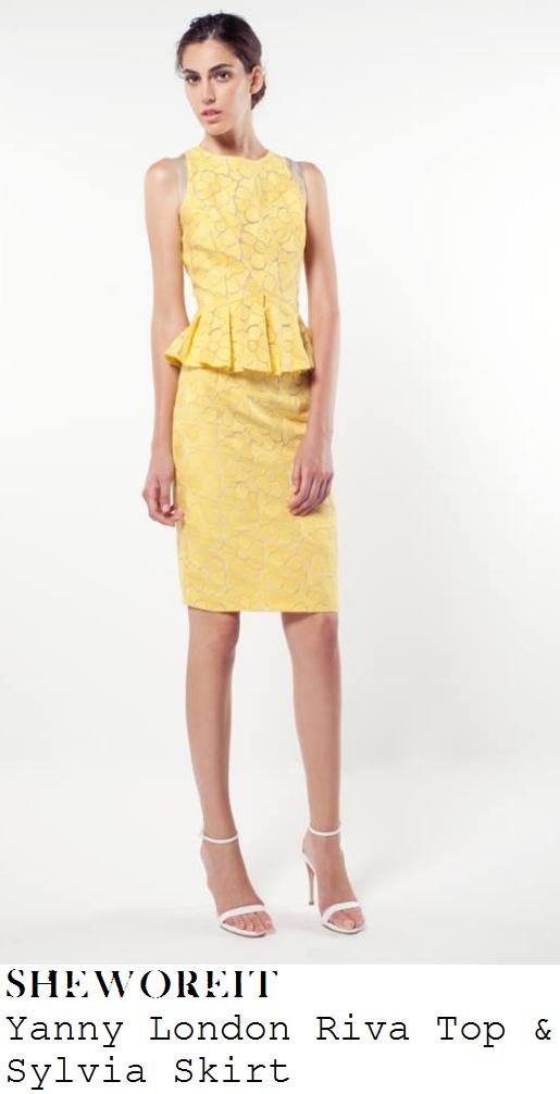 myleene-klass-bright-yellow-floral-daisy-lace-sleeveless-peplum-top-and-skirt-dress-loose-women