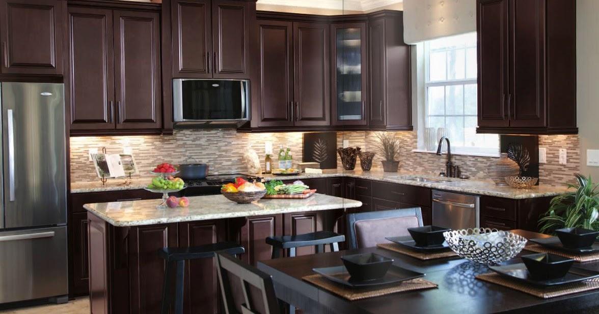 Espresso Cabinets Kitchen