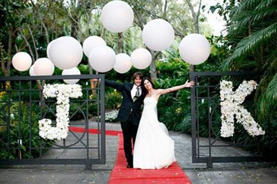 Assessoria Lidiane Fidelis Blog de Casamento Balões na  -> Decoração Balões Casamento