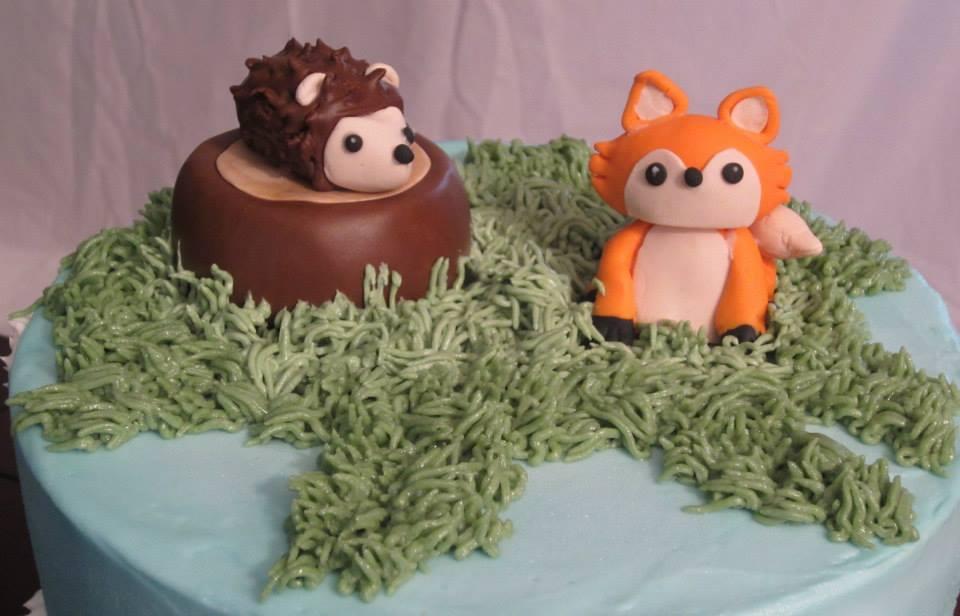 cakes woodland creatures baby shower cake