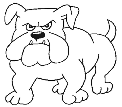 drawing coloring for child: Bull Dog Coloring