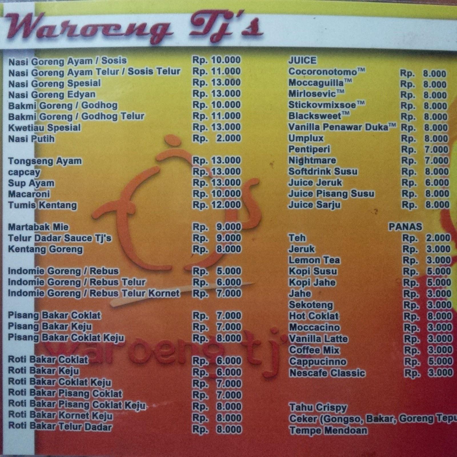 Kuliner Magelang Mie Jawa TJ's