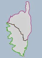 Présentation des arcs des départements de la Corse