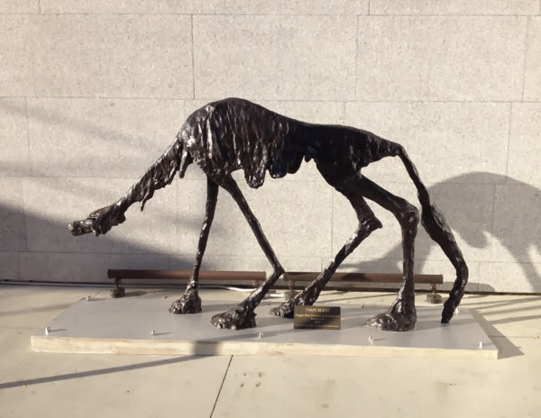 Tsipi Mani Doggie Dog sculpture West Hollywood
