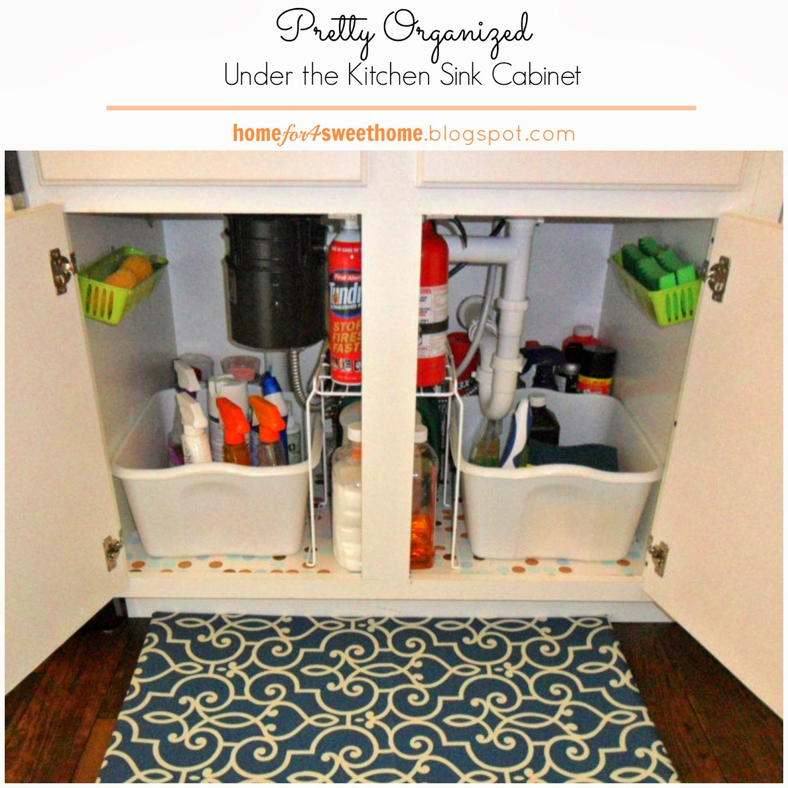 {Kitchen Organizing} Under The Kitchen Sink Cabinet
