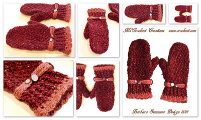 Free Simple Crocheted Mitten Patterns ~ Crochet Collection