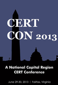 Logo for the CERTCON 2013 Conference, June 29-30, Fairfax, Virginia