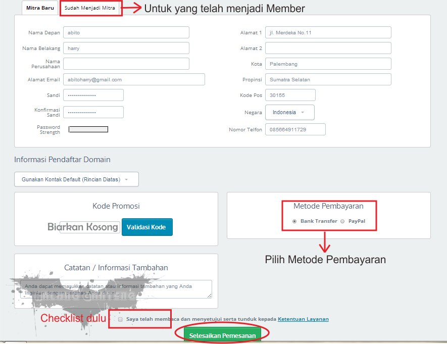 Cara Membeli Domain di Idwebhost Tampilan Terbaru Screenshot