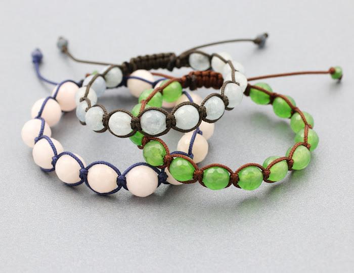 bransoletki makrama - sznurek swiskozowy