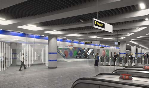 Public Art Network Daniel Buren Artwork To Be Installed At Tottenham Court Road Tube Station