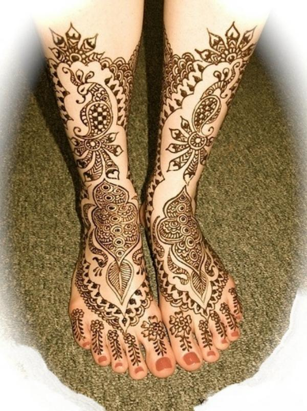 Mehndi Leg Designs : Latest fashion new mehndi designs for feet