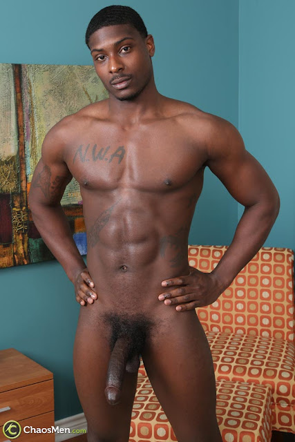 young stud nude black