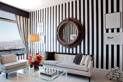 Lush Fab Glam Blogazine: Black And White Stripes From The Runway ...
