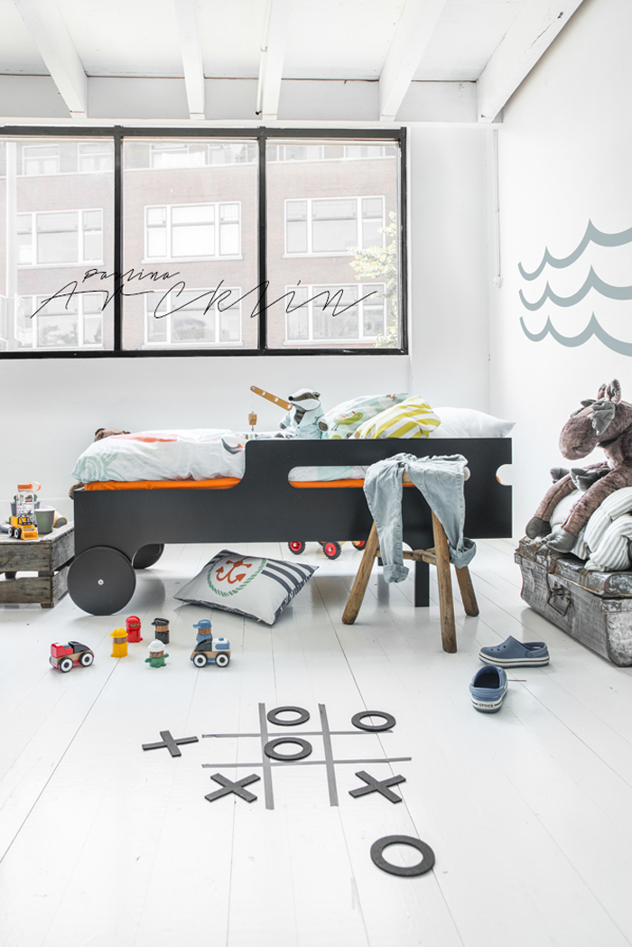 piraten kids room - Rafa-kids toddler bed & Moshi Moshi kids bedding  © Paulina Arcklin Photography + Styling