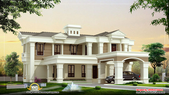 Beautiful luxury villa design - 420 Square meter (4525 Sq. Ft)- February 2012
