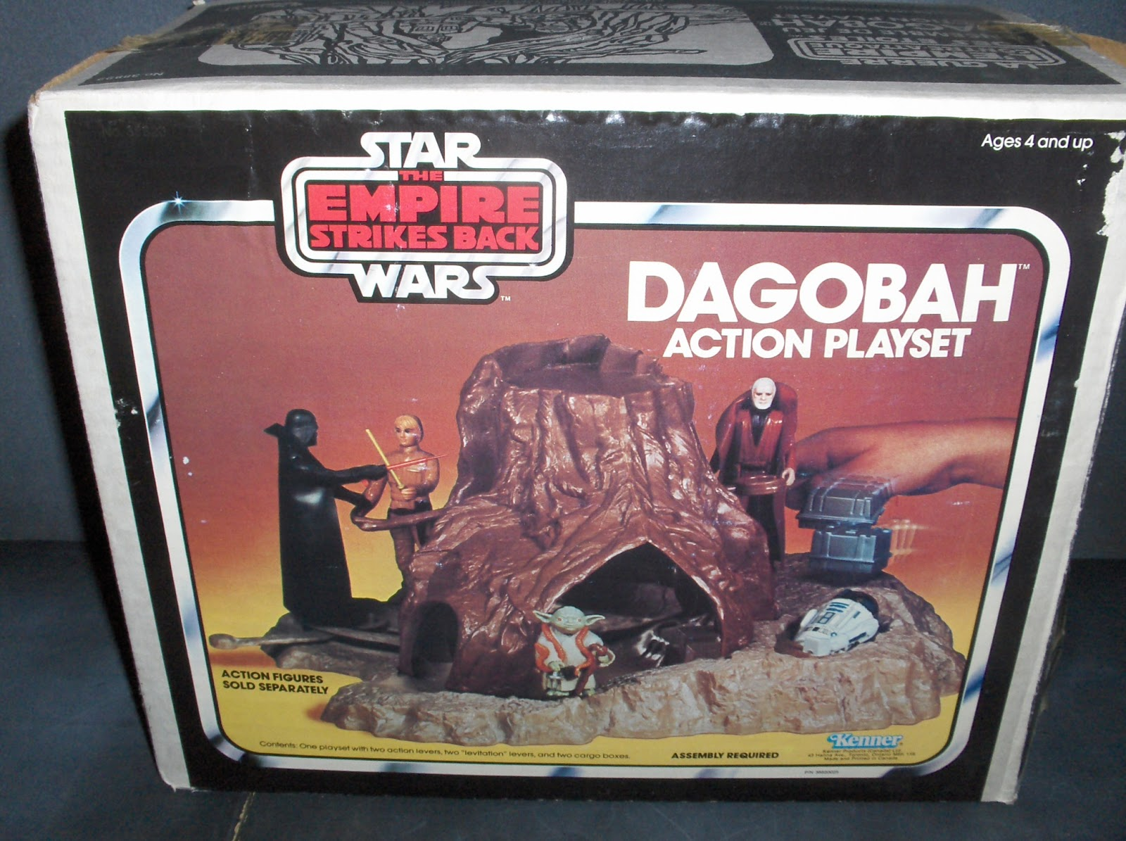 Star Wars Vintage Toys : Vintage kenner star wars toys dagobah action playset
