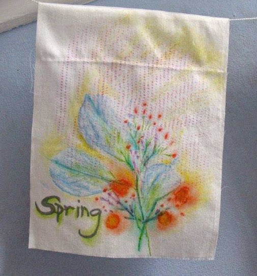 spring prayer flag