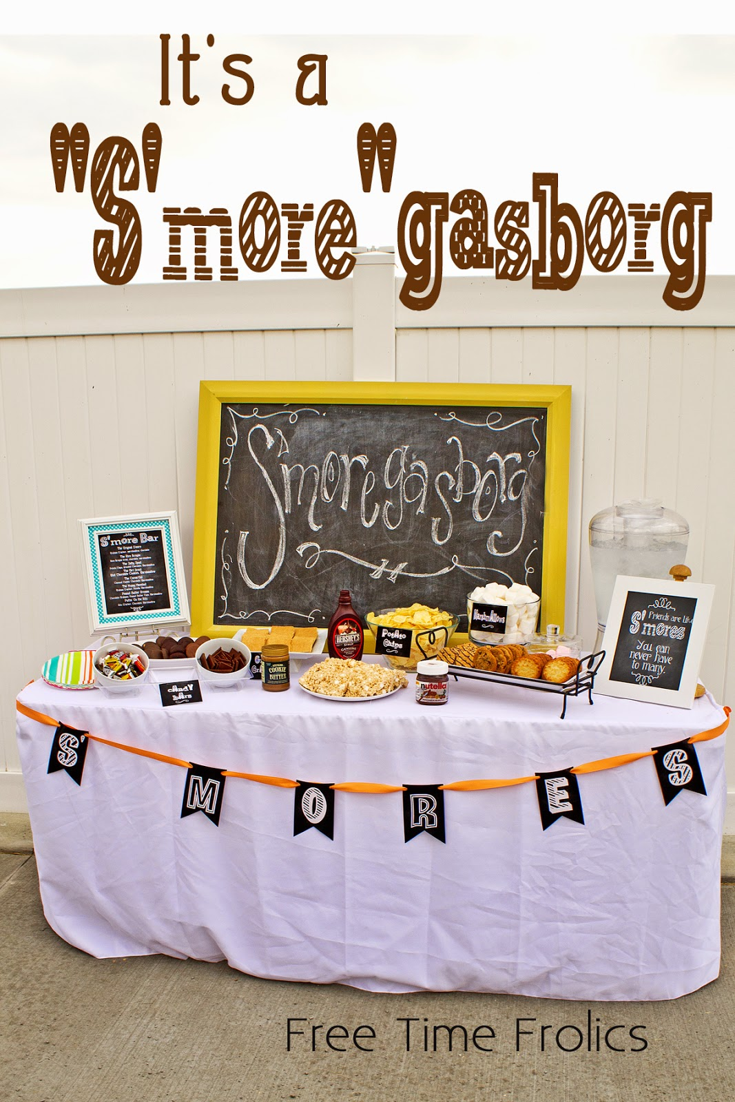 s'more party idea www.freetimefrolics.com #smores #printable