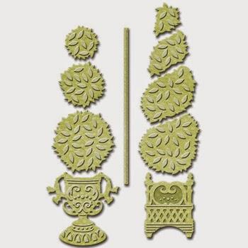 Spellbinders Shapeabilities Victorian Garden Topiary Treasures SBS4-529