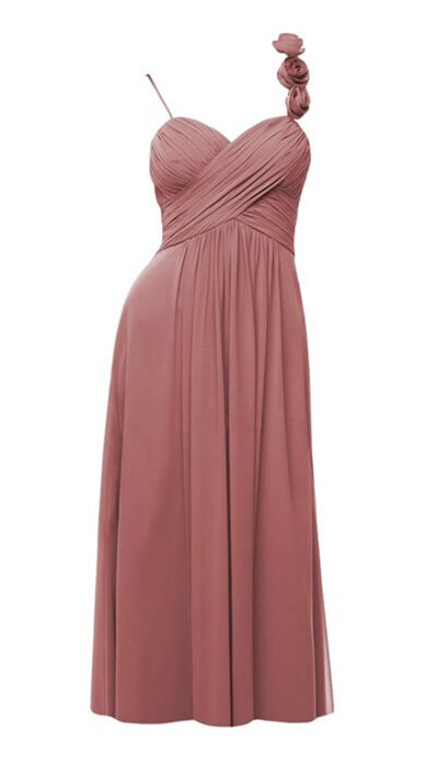 nude pink bridesmaid dress