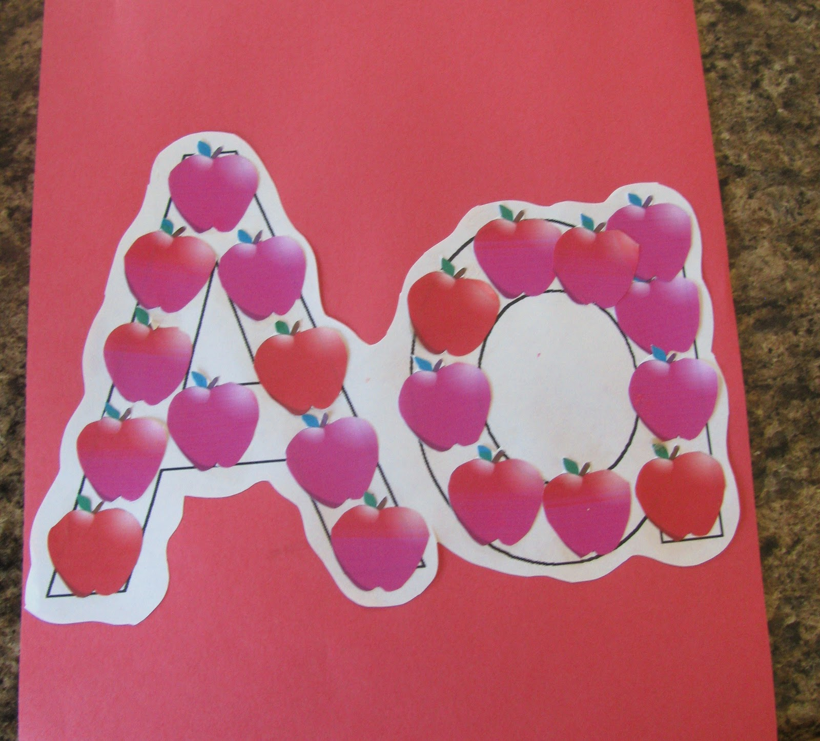 see what we did today the letter aa