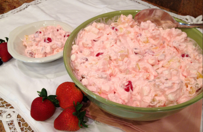 melissa valentine's kitchen grandma brown's fruit salad with jello and whipped cream