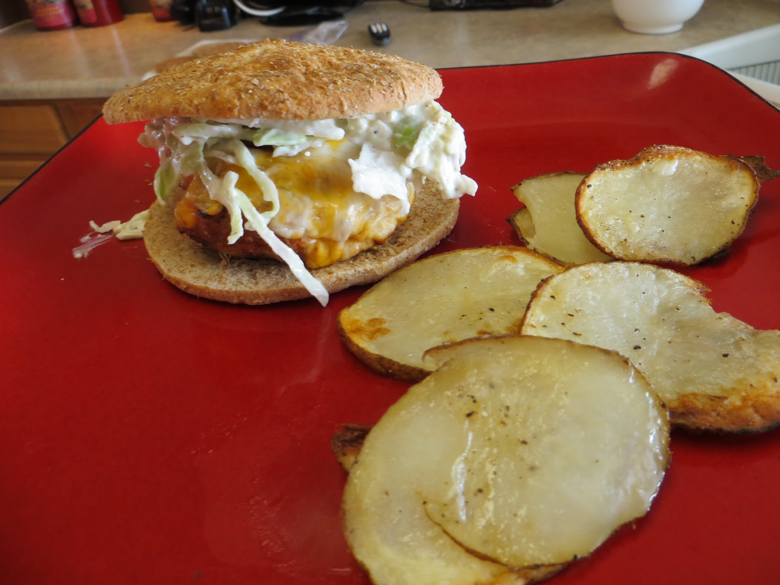 ... Fingers Movement ~ Buffalo Turkey Burgers with Blue Cheese Slaw