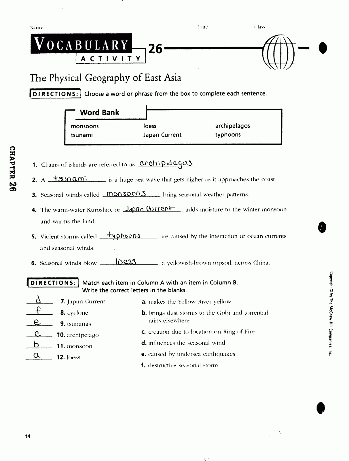 mr e s world geography page world geography chapter 26 the rh acewg blogspot com Guided Reading Passages Guided Reading Activity 12 3 Answers