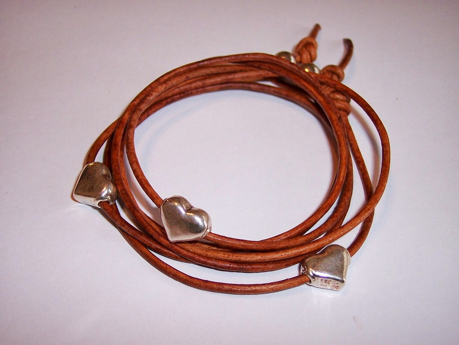 Wrapped Leather Hearts