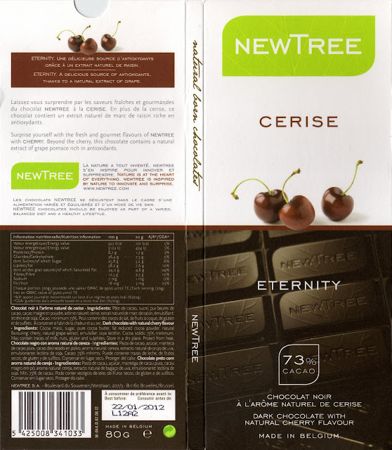 tablette de chocolat noir gourmand newtree cerise eternity noir 73