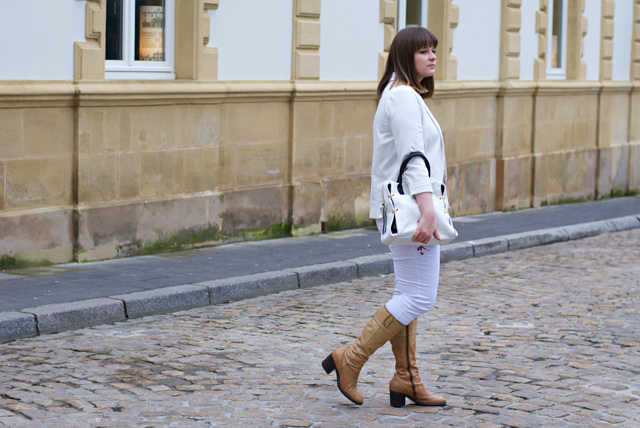 white outfit in winter