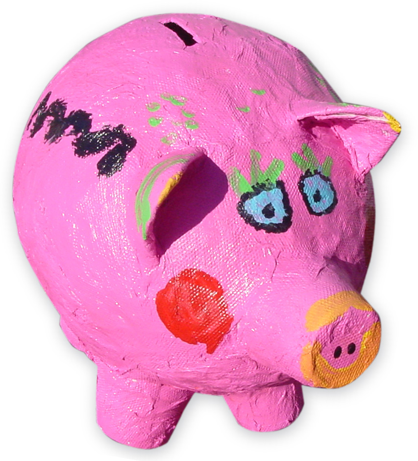paper mache piggy bank art projects for kids