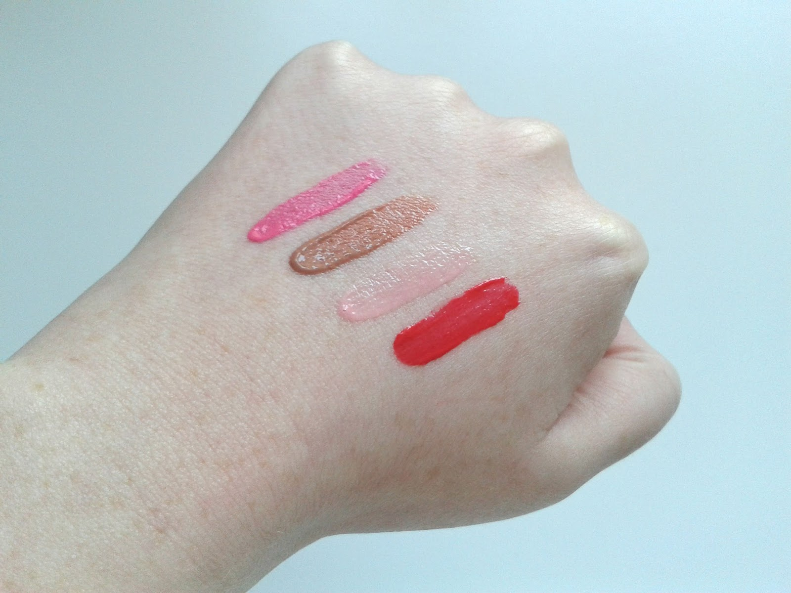 GOSH Lip Lacquers Review Swatches Funky Lips Crispy Lips Sweet Lips Lovely Lips