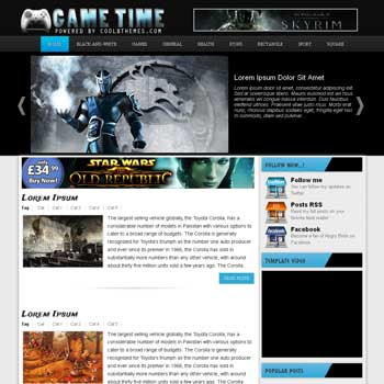 Game Time blogger template. template blogspot free. download template blogger for games