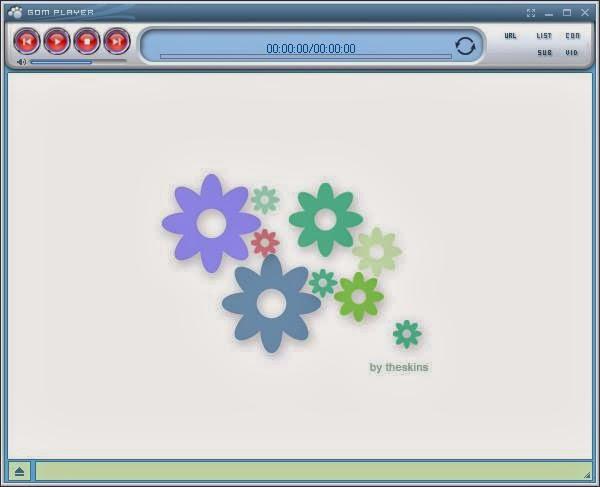 skin GOM Player, thema, flower