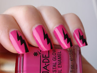 Nazil Craze blog - Fashion Fuchsia with black lightning bolts