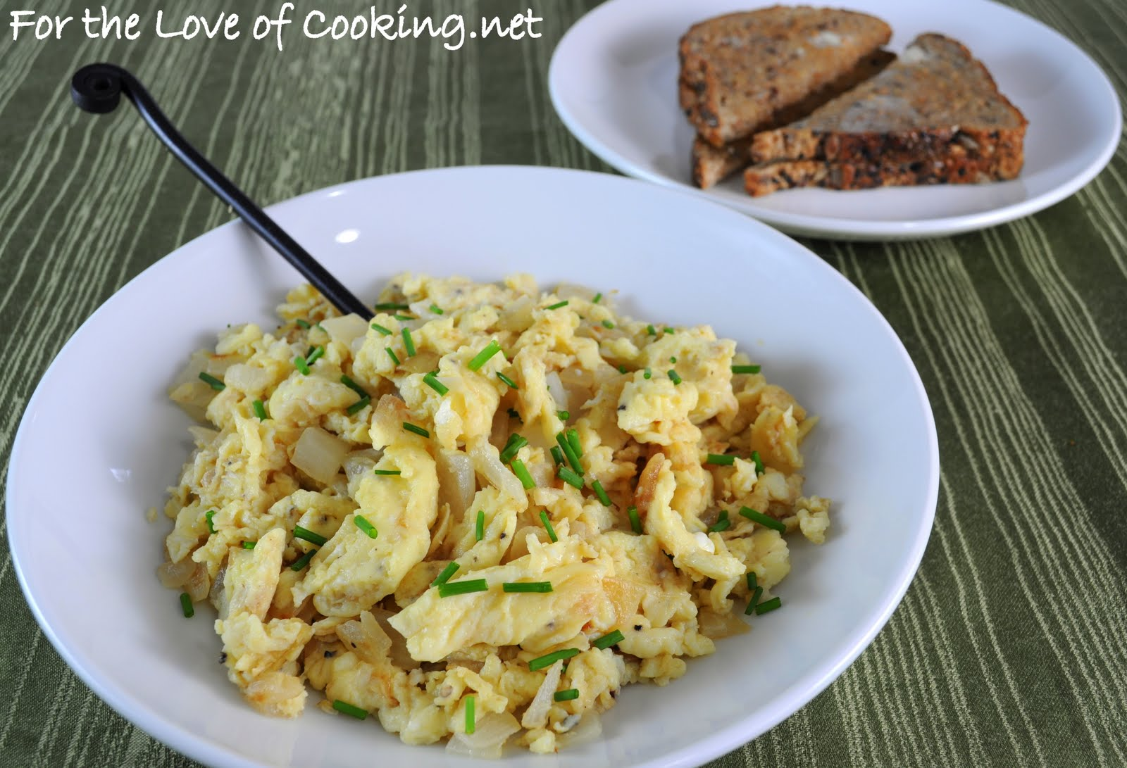 Caramelized Onion Scrambled Eggs | For the Love of Cooking