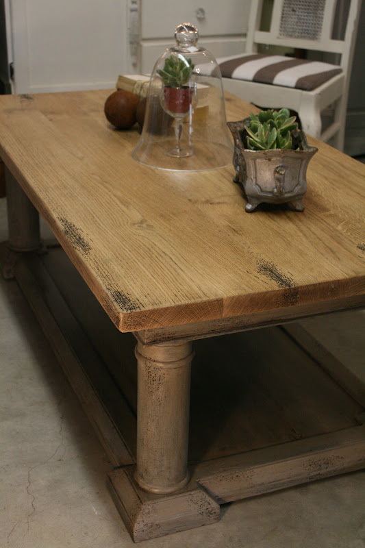 Reloved rubbish restoration hardware coffee table update