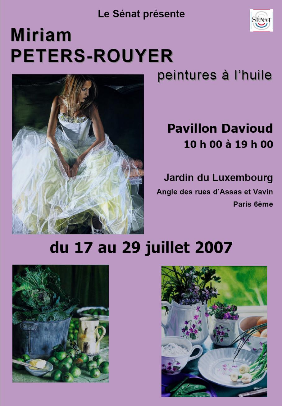 Exposition Personnelle Jardin du Luxembourg Paris 2007