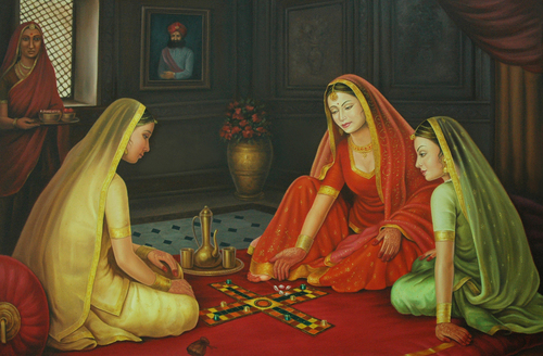 Rajasthani Girls Art Paintings 8