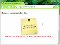  Akhir Website sergur.kemdiknas.go.id | Penilaian Kinerja Guru 2012