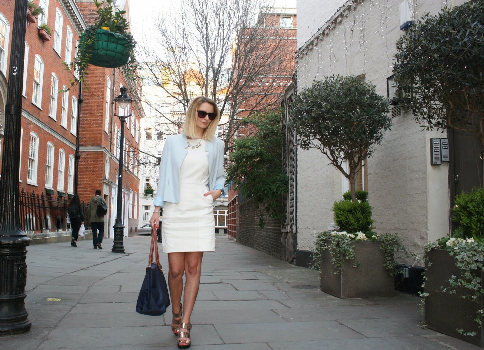 street style wearing next dress